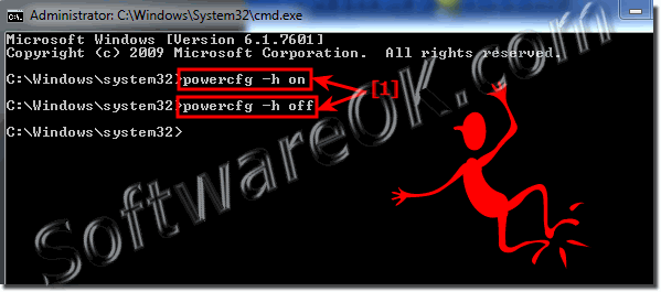 Disable hibernate in windows 7 via admin cmd.exe!