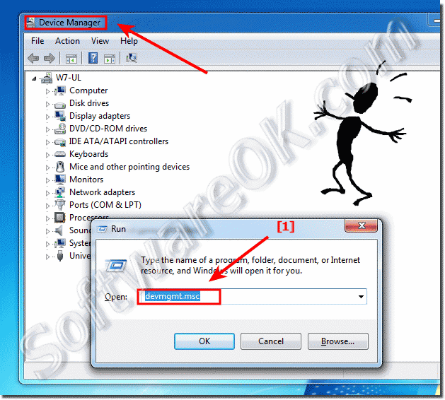 How to open Device Manager in Windows-7 (start, open)?
