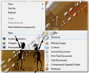 New Shortcut on the Windows-7 Desktop