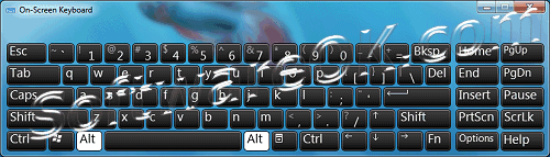 Windows 7 On-Screen Keyboard