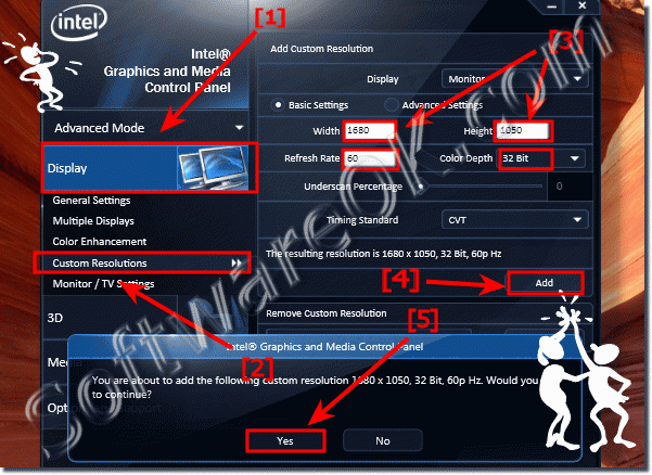 Resolve the Problem with Intel HD and 168 x1 5 screen resolution on Windows 7?
