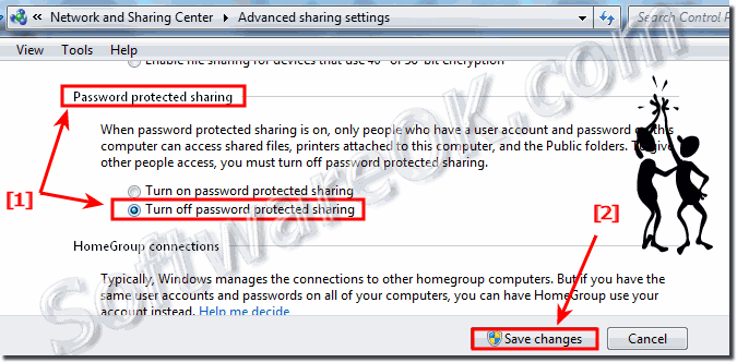 Share Files and folders without Password on Windows-7 (Turn-off)!