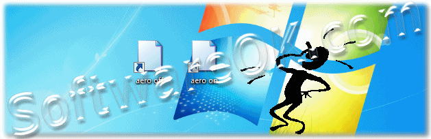 Shortcuts Aero on and Aero off on Windows-7 desktop
