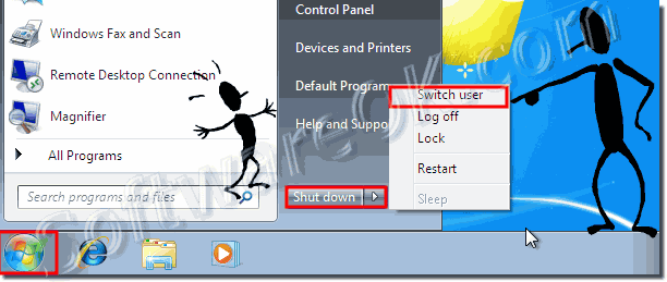 Windows-7 Switch users acounts!