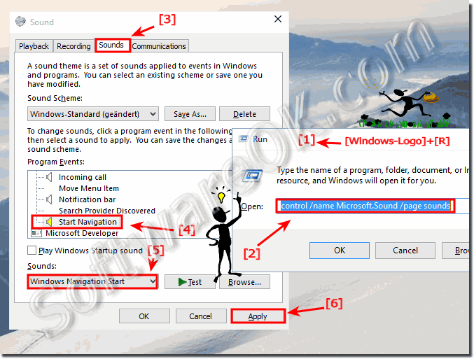 Activate Navigation Click-Sound in Windows-10!