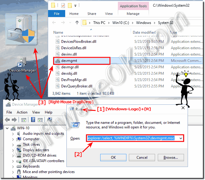 Device Manager Desktop Shortcut for Windows-10!