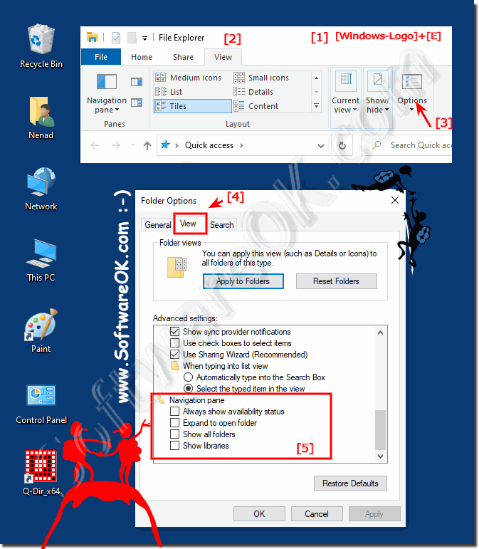 File-Explorer Navigation Pane settings!