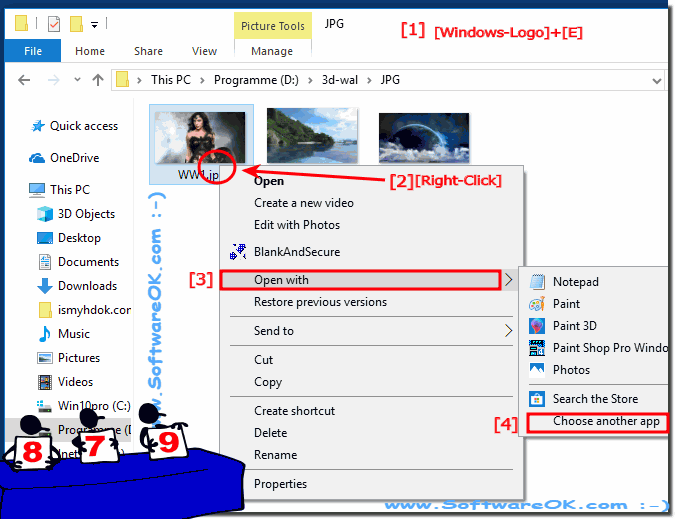 In Windows 10, Open files with another program!