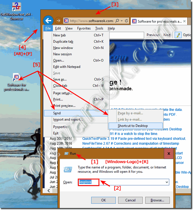 Internet Shortcut in the Windows 10 Start!