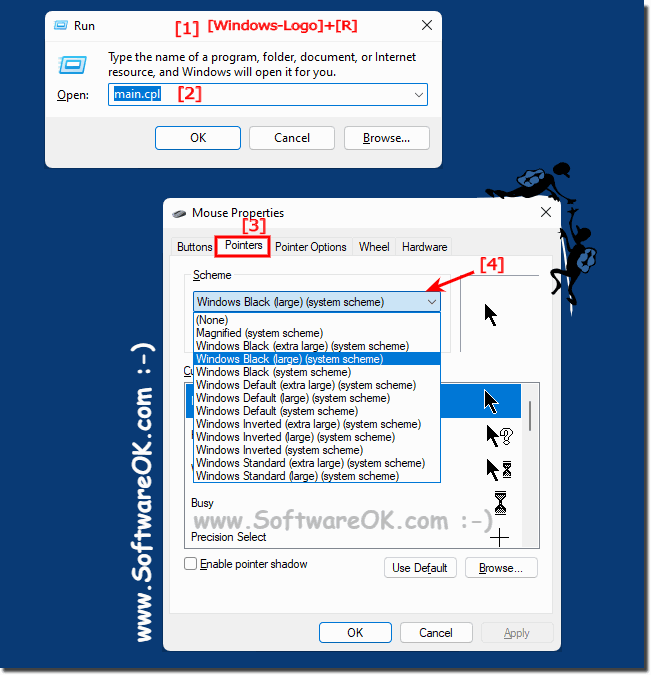 Mouse Pointer and Cursor size on Windows-10!