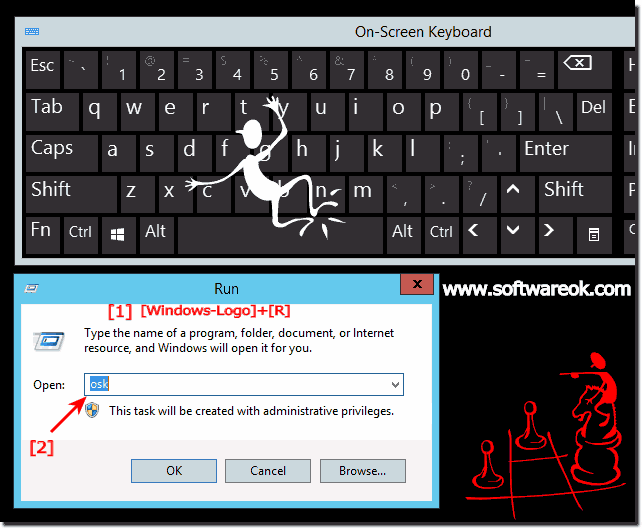 RUN on screen keyboard all windows OS!