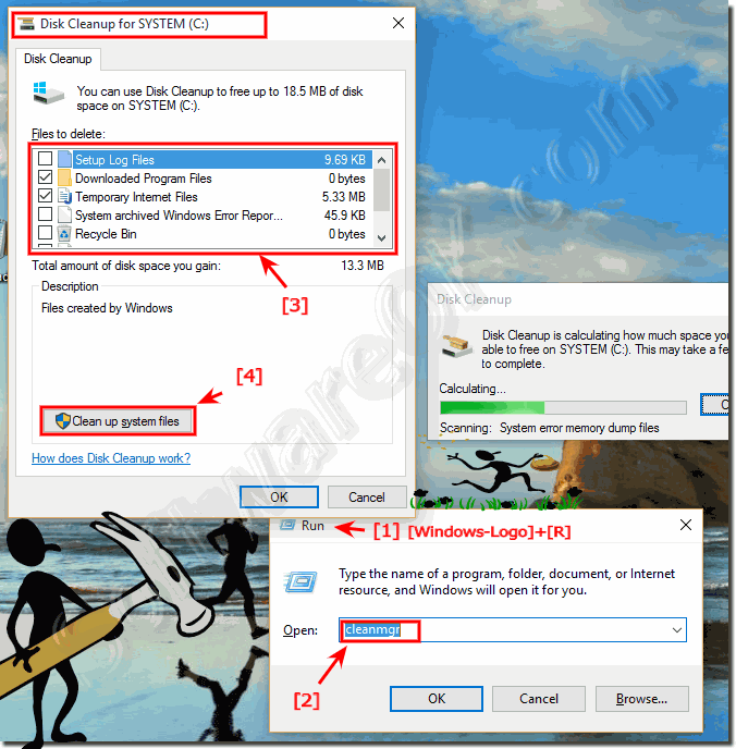 Run Disk Cleanup Manager in Windows-10!