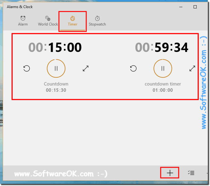 Set Multiple Countdown Timer in Windows-10!