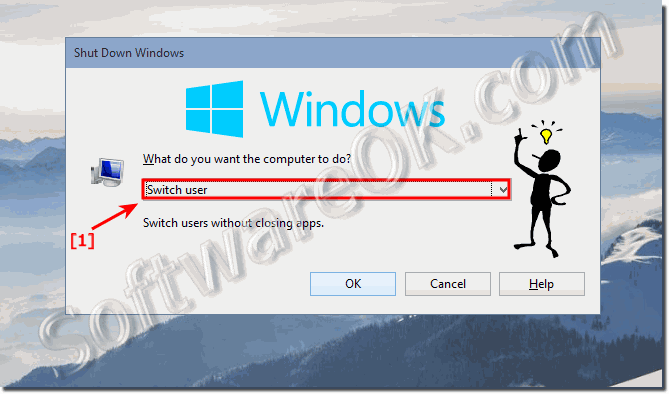 Switch user in Windows 10 keyboard-Shortcut!