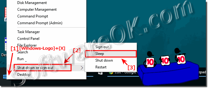 Use WindowsX to go to sleep mode!