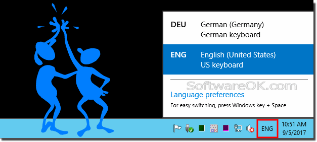 Windows-10 change keyboard language input!