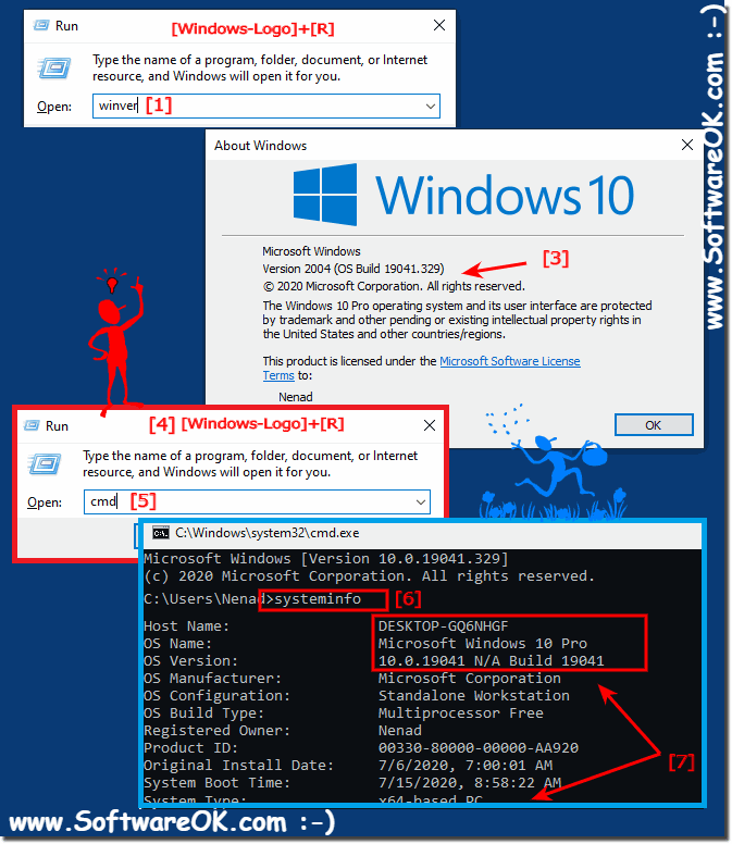 Windows 10 version and build number!