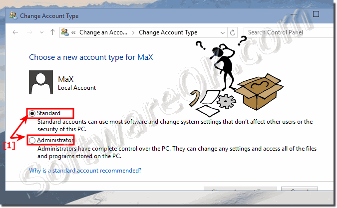change administrator in windows 10!