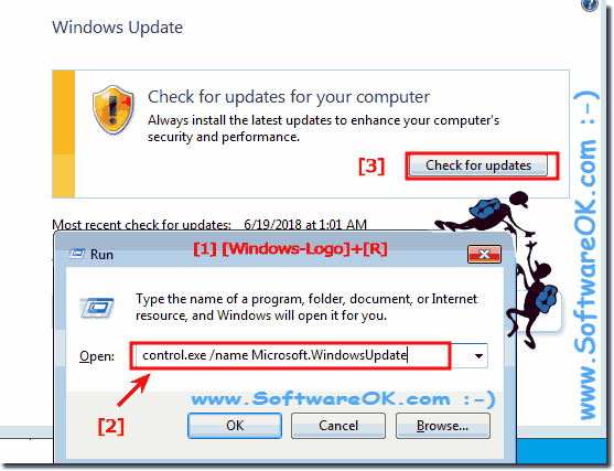 Check for Windows updates on Windows-7!