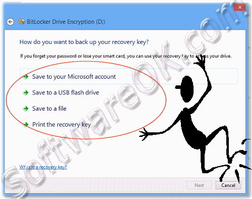 Back-UP location for the BitLocker Recovery Key