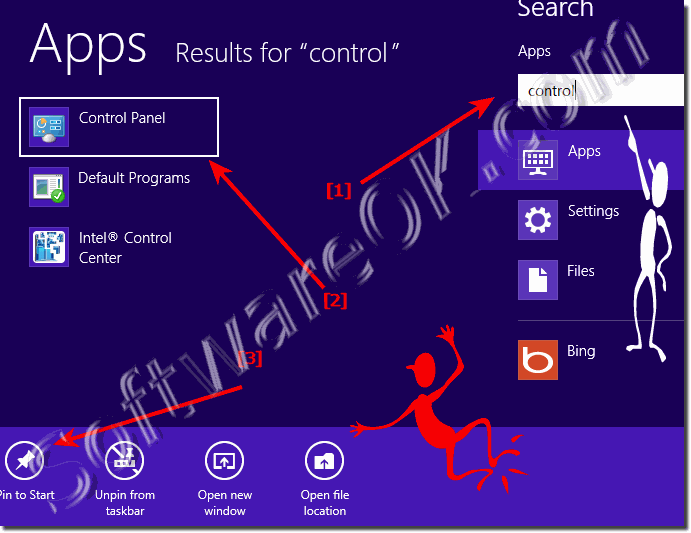 Bring Win8 control panel to start menu in windows 8