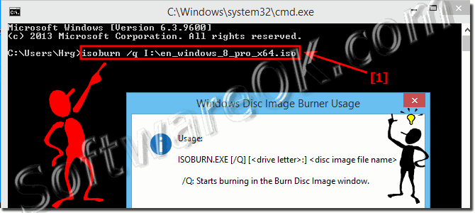 CMD command to burn a Windows 8.1 Pro DVD!