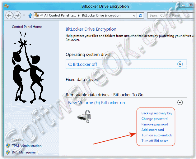 Customize, enable, disable the Windows-8 BitLocker-To-Go
