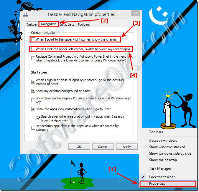Disable the left screen corner APP switch in Windows 8.1!