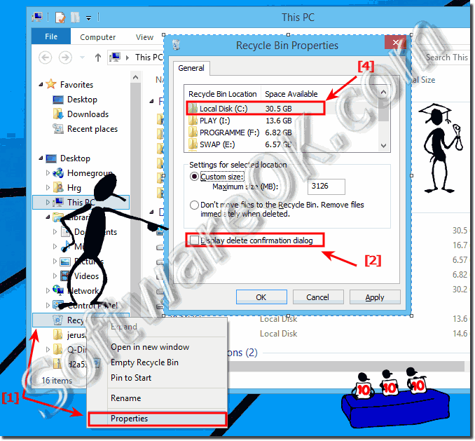 Display delete confirmation dialog in Windows-8.1 when delete file!