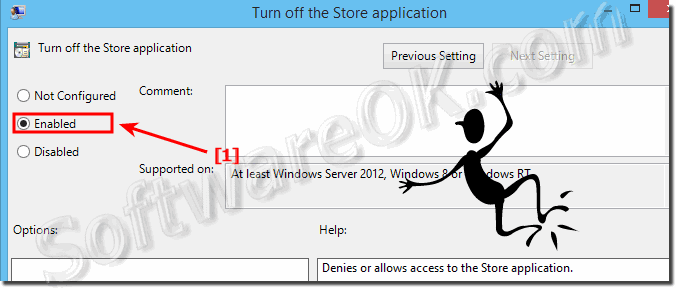 Enable the turn off off the Windows 8.1 Store!