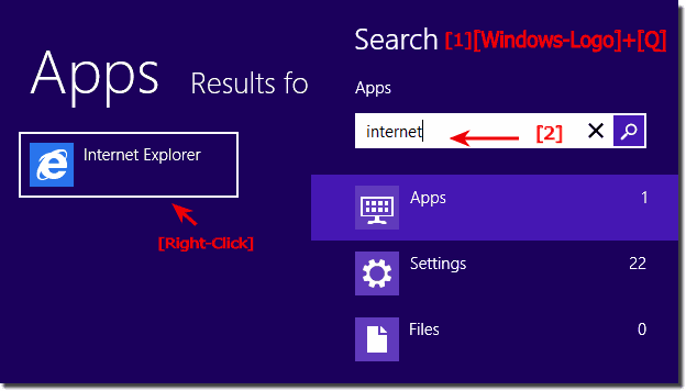 In Windows 8 I will find the program folder and open him, how to? (location, file, path)