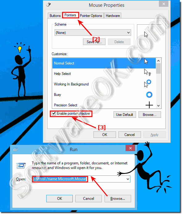 Mouse pointer shadow in Windows!