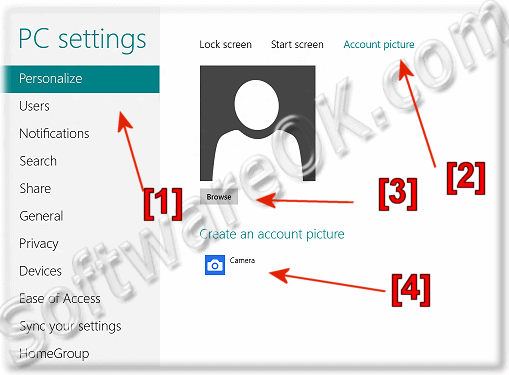 New user account picture in windows 8