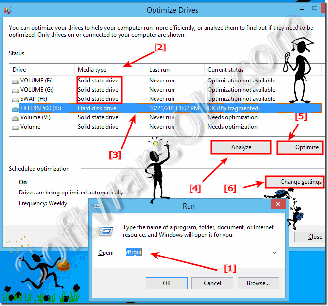 Run Defragmenter in Windows 8.1 and 8 for hard drives and disk optimization!