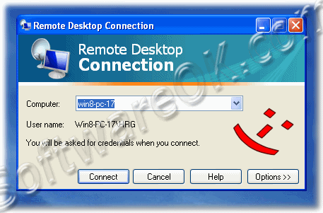 Windows-XP Remotedesktopverbindungs Programm mstsc.exe starten