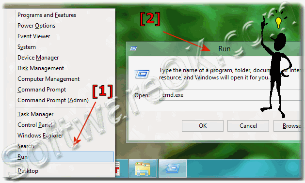 Run the Run-Dialog in Windows 8