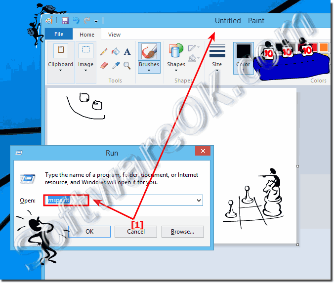 How Can I Start The Paint Program In Windows 8 8 1 Or Win 10 Run Open Find
