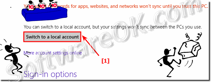 Switch to a local account in Windows 8!