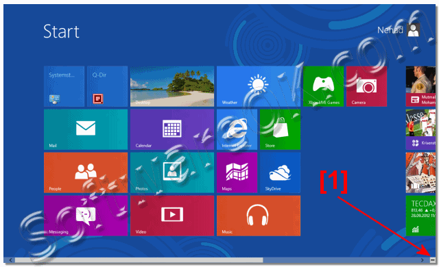 how to fix the zoom in windows 8