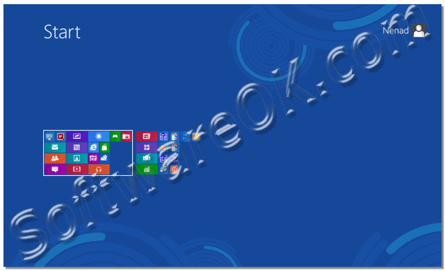 Windows-8 and Semantic Zoom in Start Menu eg Start Screen Zoom-OUT!