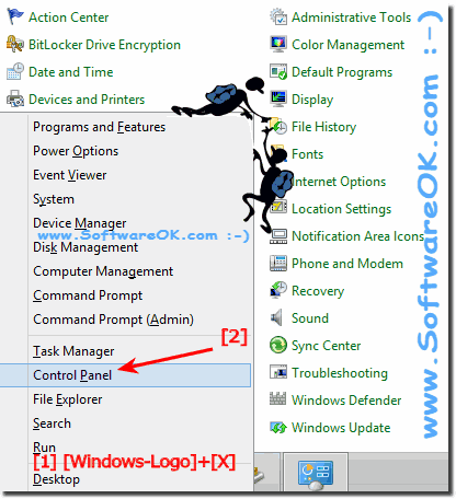 Windows 8.1 Control Panel via WinX menu!