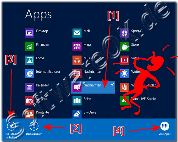 Windows 8 App-s (Anwendungen) add to Start Menu