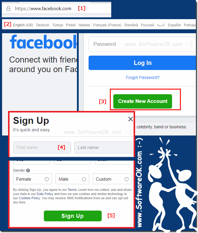 sign up, registerogin and log in at Facebook.com