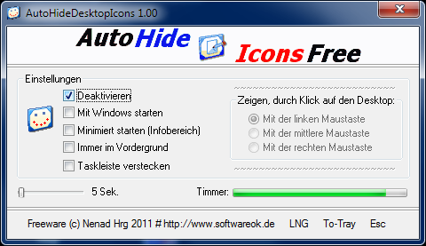 Click to view AutoHideDesktopIcons 3.04 screenshot