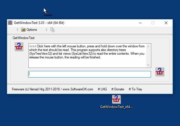 Click to view GetWindowText 1.61 screenshot
