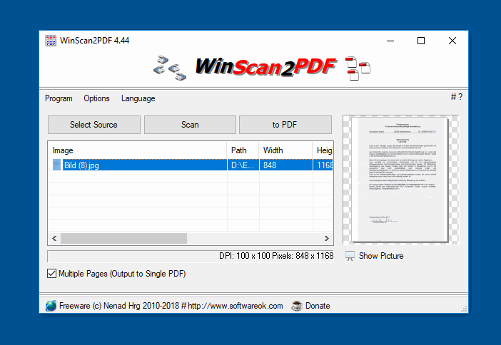 Multiple Page Scan to PDF for all Windows OS!