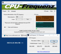 Identify the CPU frequency