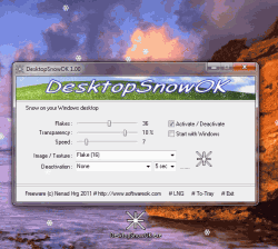 Magic snow flakes on your Windows Desktop