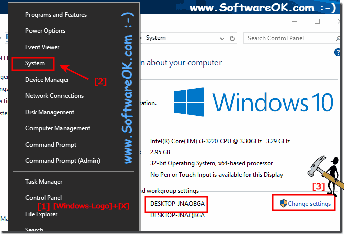 Change PC name Windows 10!