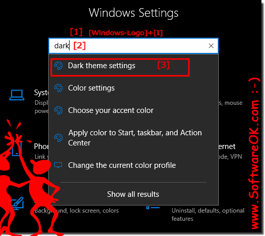Windows 10 disable black color settings!